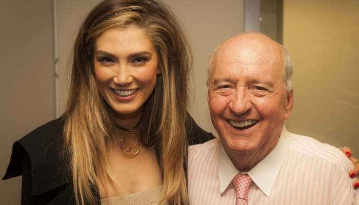 Article image for Delta Goodrem reveals first ever letter she sent to 'greatest mentor' Alan Jones