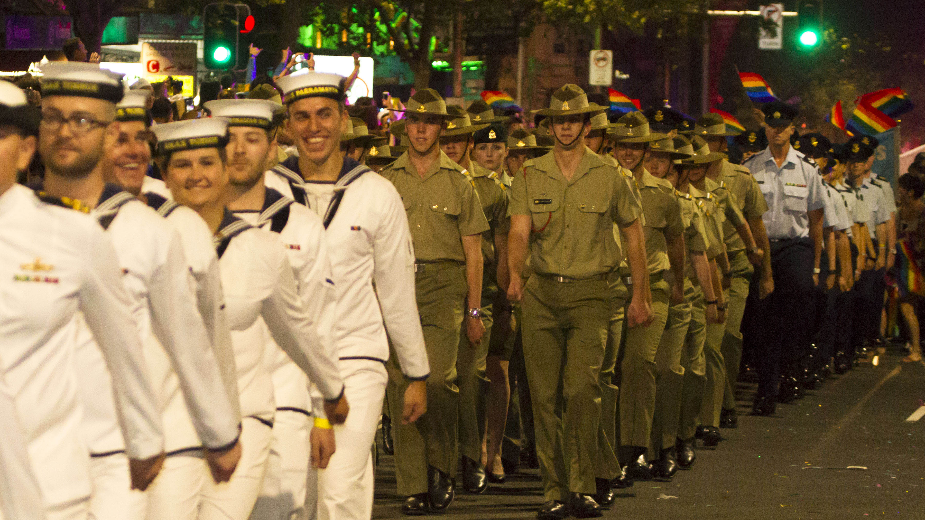 Should the ADF be able to march in uniform?