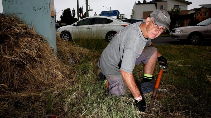 Resident Cleans Highway Himself