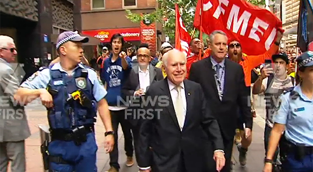 CMFEU Harasses John Howard