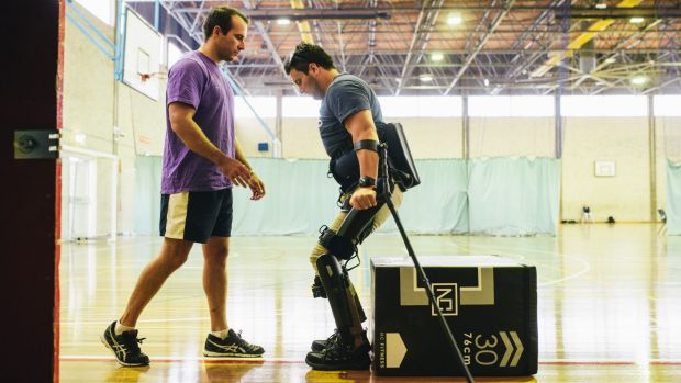 ExoSkeleton helps Canberra man walk