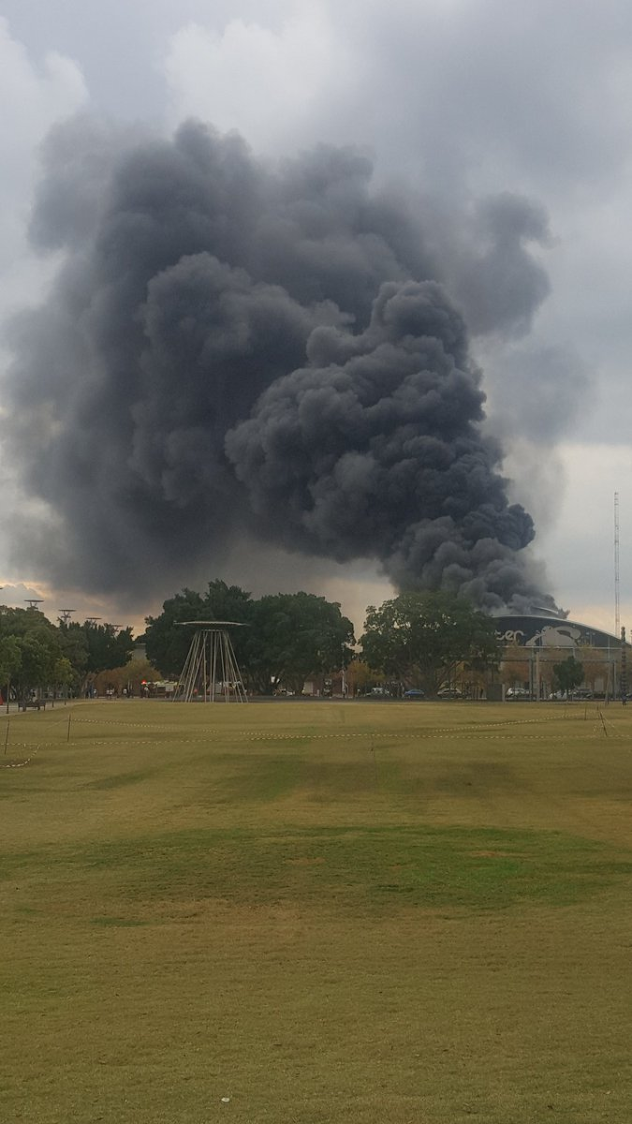 Huge Blaze at Sydney Olympic Park