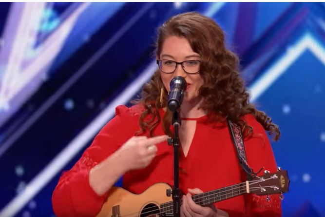 Article image for Amazing performance from deaf singer