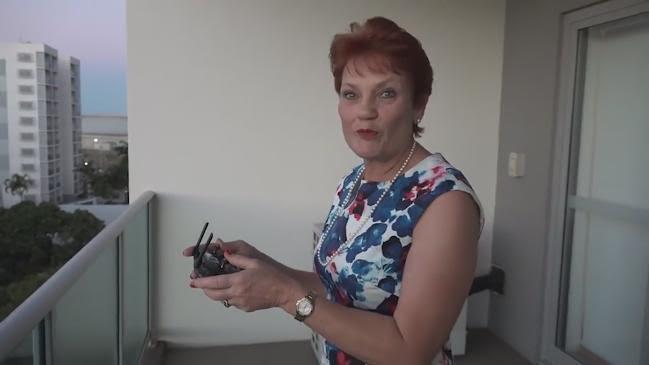Pauline Hanson Laughs Off Drone Scandal
