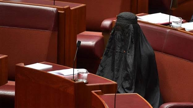 Article image for Pauline Hanson Wears A Burqa In Parliament