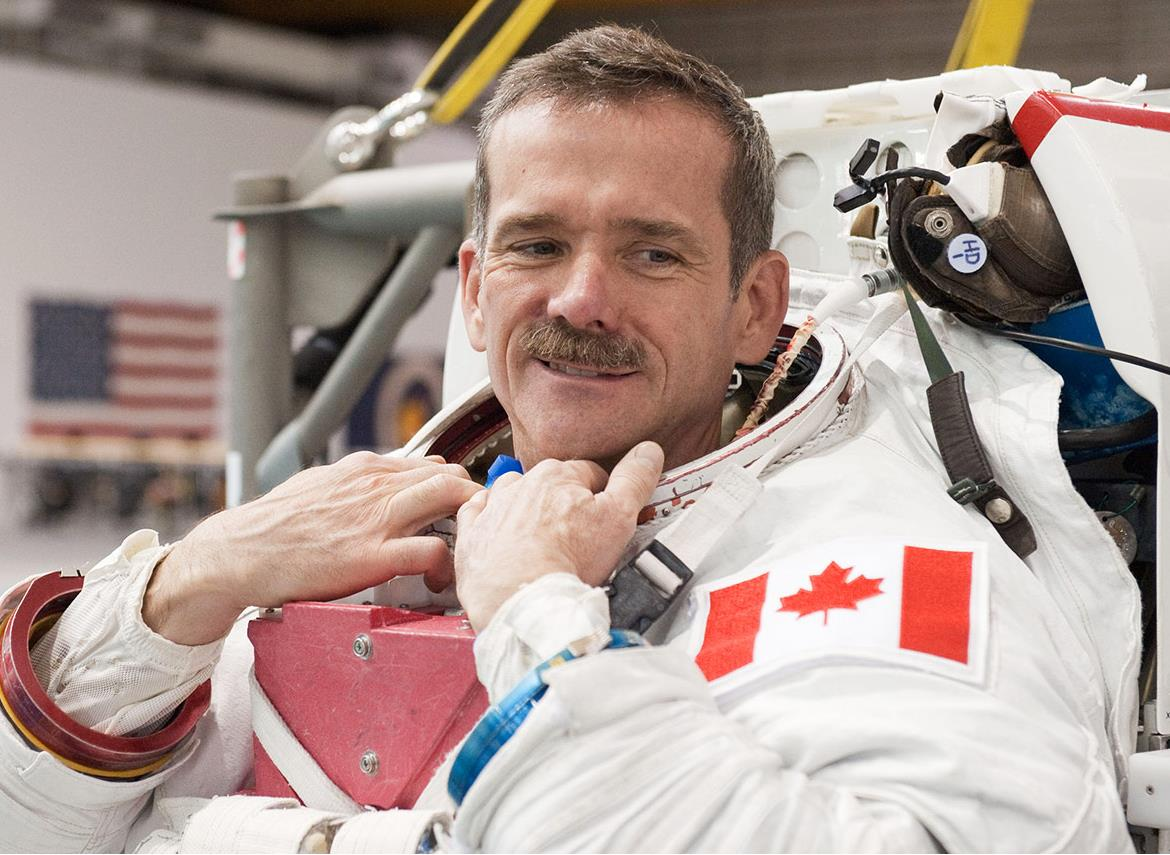 Canadian astronaut Commander Chris Hadfield