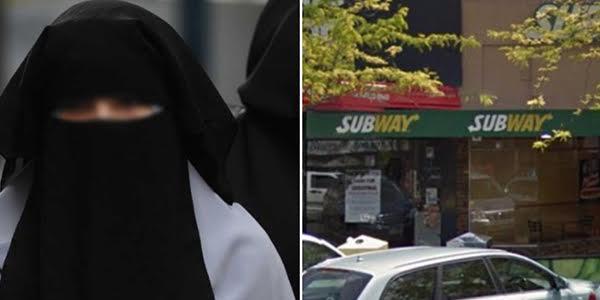 Burqa Bandit Robs Subway