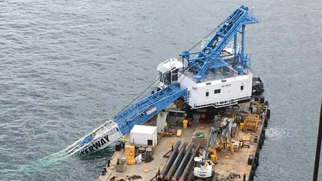Crane In Sydney Harbour