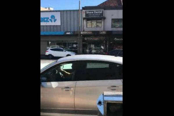 Article image for Shattered glass on Military Rd at Cremorne