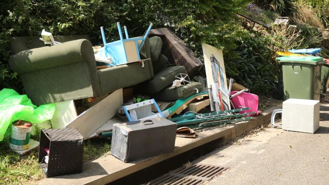 Suburban streets turned into dumping grounds