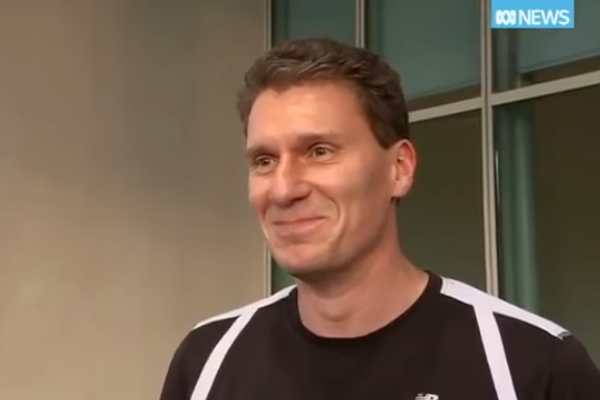 Article image for WATCH: Cory Bernardi cracks-up laughing at Christopher Pyne's gay porn 'hack'