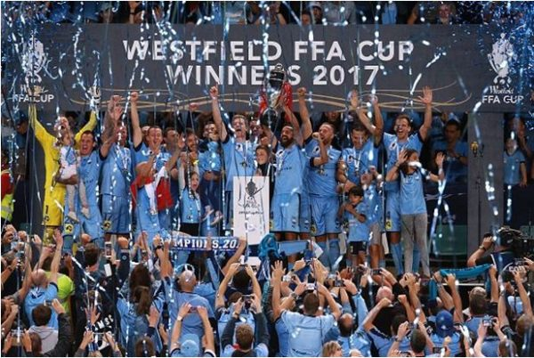 Sydney FC coach Graham Arnold talks after winning the FFA Cup