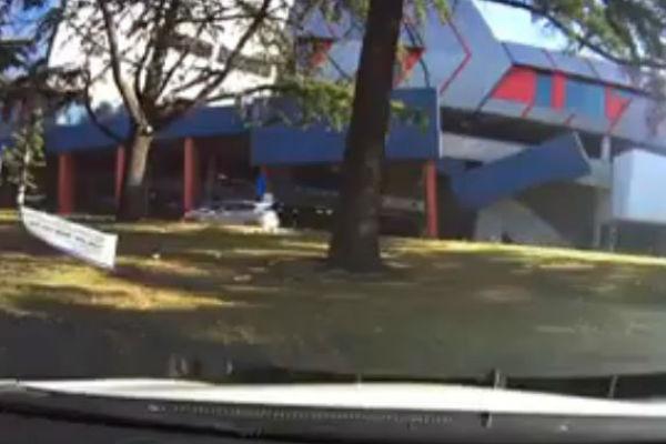Article image for WATCH: Dashcam captures unbelievable car park crash
