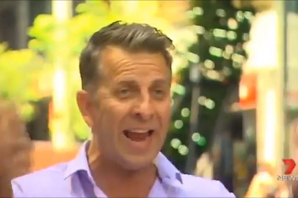 Article image for WATCH: Andrew Constance rude to George St business owners