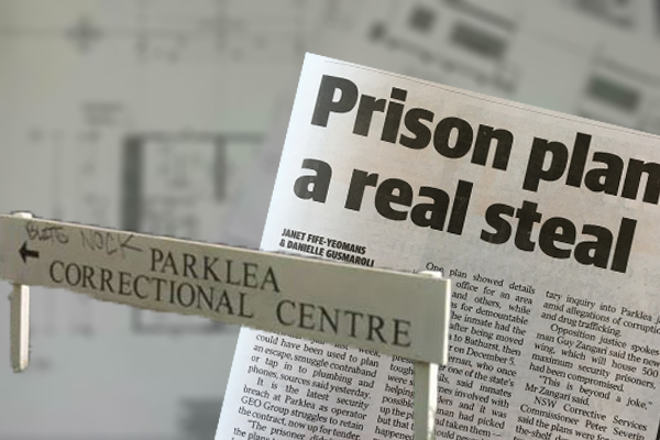 Maximum security prison plans stolen by inmate