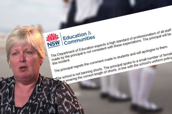 School principal apologises for inappropriate comment to young girls