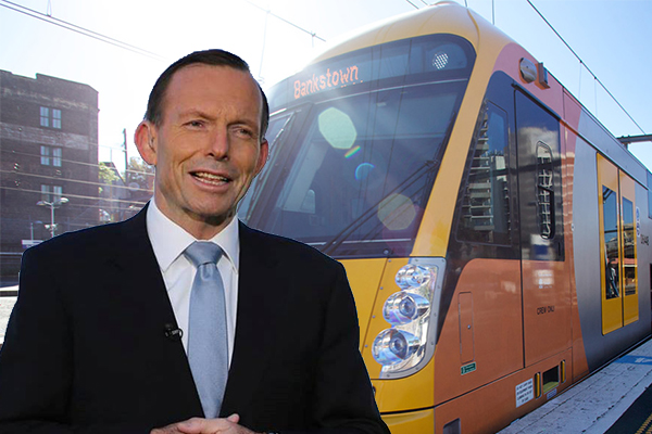 Tony Abbott slams rail strike as industrial blackmail