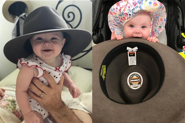 Adorable Aussie Akubra baby