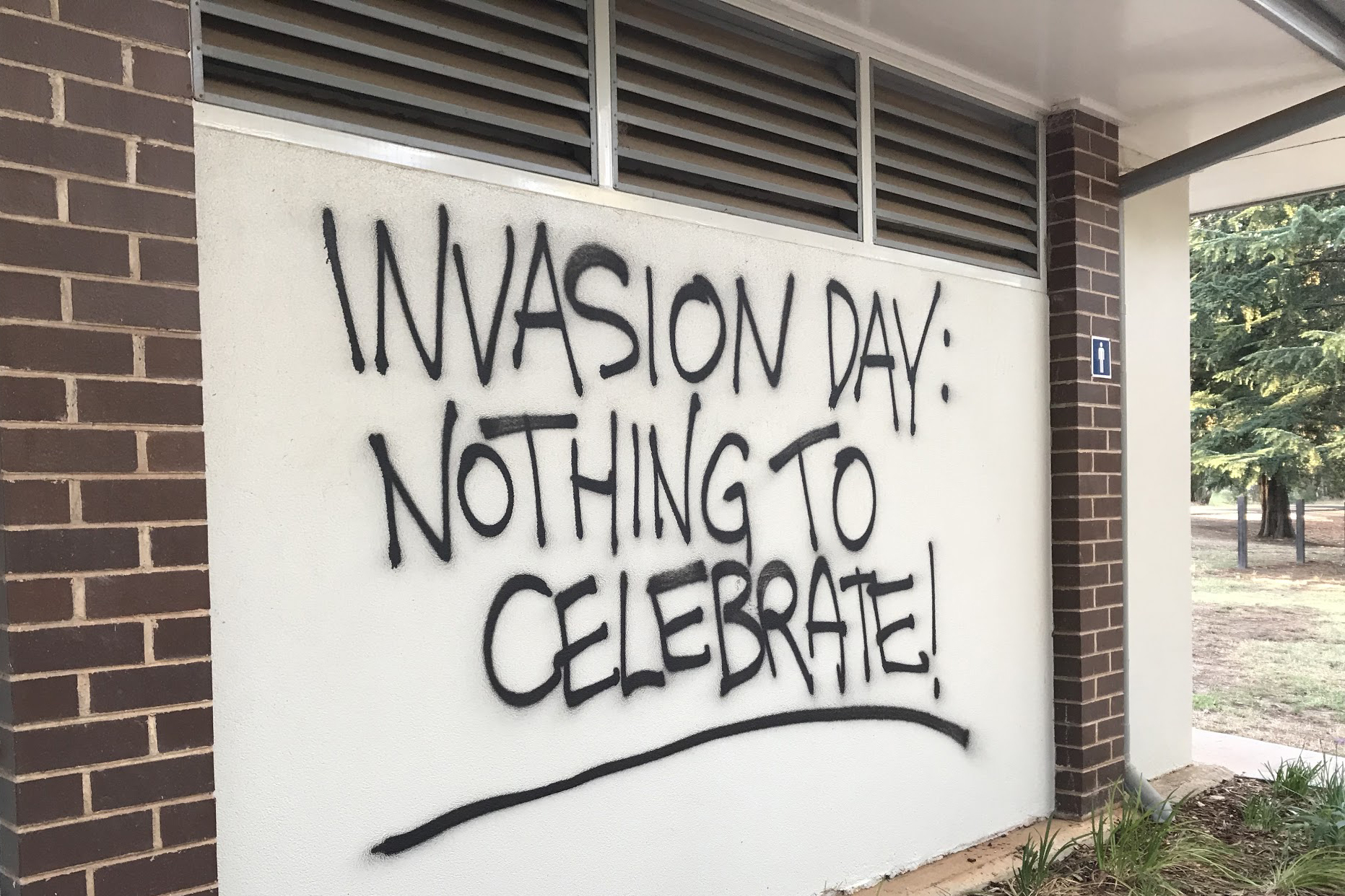 Australia Day graffiti 2