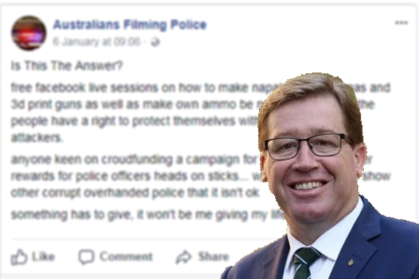 """Facebook page calls for """"police officers' heads on sticks"""""""