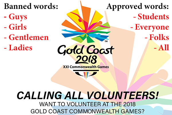 Article image for Comm Games CEO explains politically correct volunteer guide