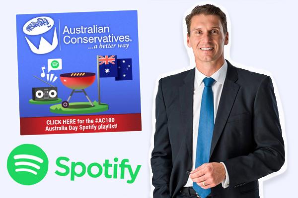 Spotify threatens to remove Cory Bernardi's Australia Day playlist