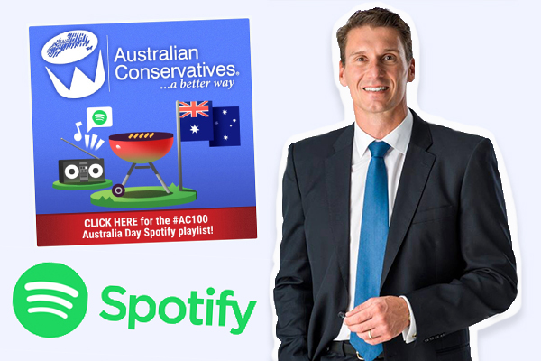 Article image for Spotify threatens to remove Cory Bernardi's Australia Day playlist