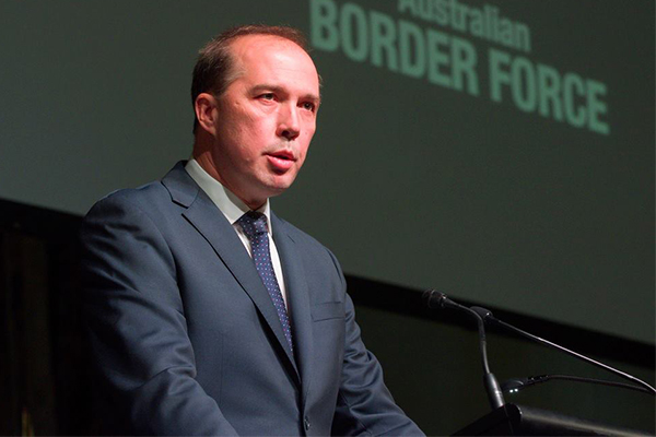 Dutton blames Bill Shorten for rise in people smuggling
