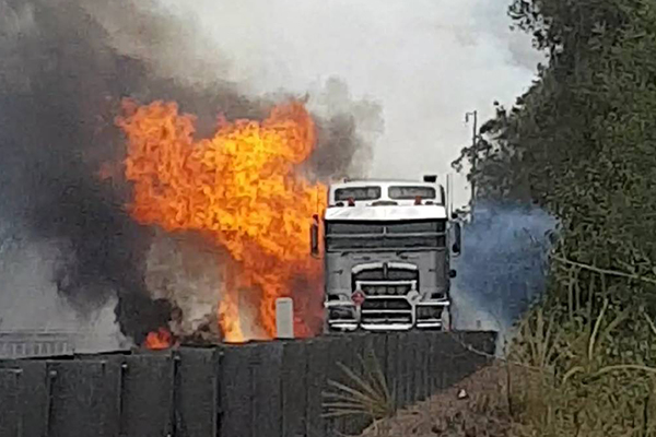 Truck driver killed in M1 truck explosion