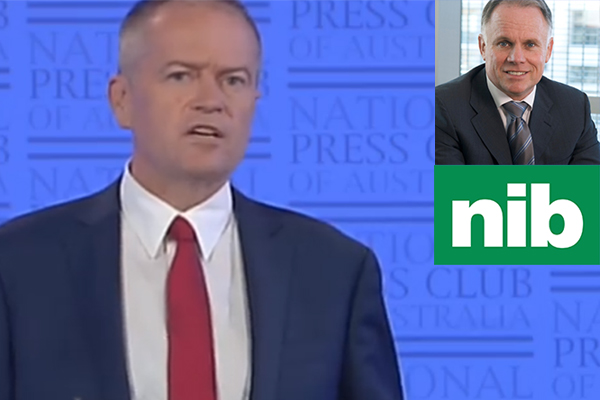 Article image for Leading private health insurer responds to Shorten's 'mug' comments