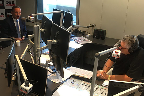 Article image for Tony Abbott close to tears in emotional, personal chat with Ray Hadley