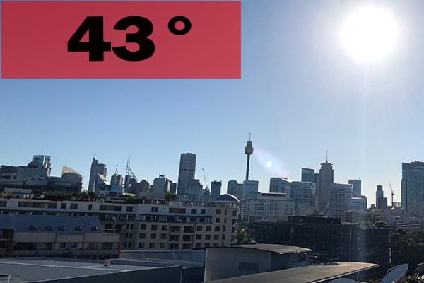 Article image for Temperatures to soar in Sydney's west