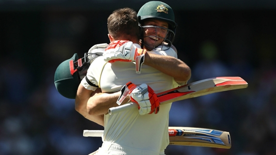 Article image for Brotherly love as Shaun and Mitchell Marsh celebrate Ashes centuries