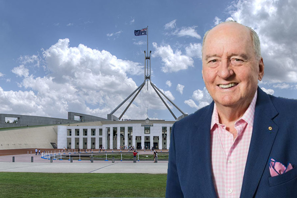 Politicians run for the hills as Alan Jones arrives in Canberra