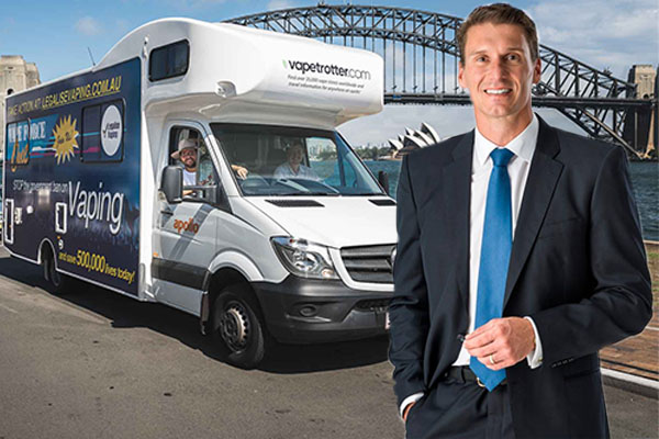 Article image for Cory Bernadi to drive vape van around parliament house