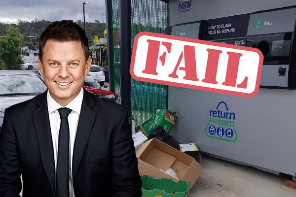 Article image for Ben Fordham unleashes on failed Return & Earn scheme