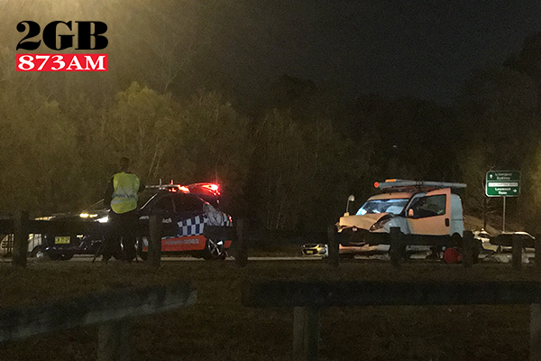 Two police officers severely injured after being struck by van at RBT site