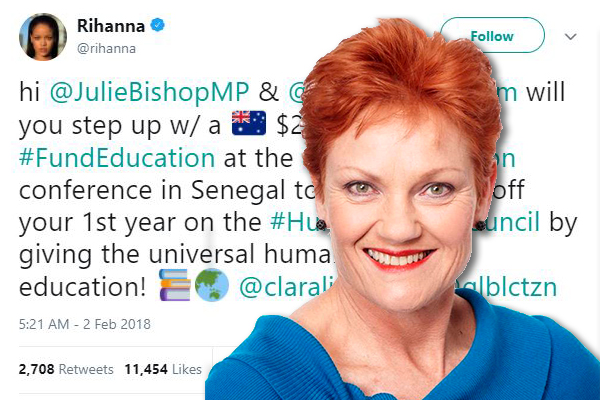 Pauline Hanson slams Foreign Minister's handling of taxpayer donations
