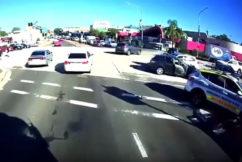 Three car crash at Smithfield