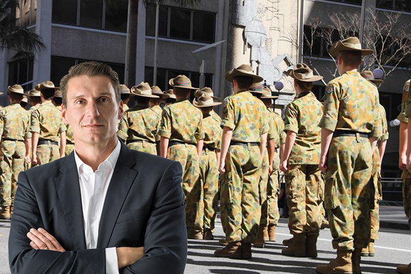 Cory Bernardi says women shouldn't be serving on the front line