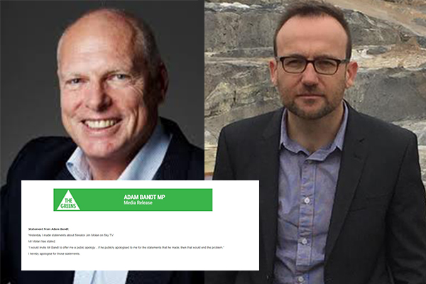 Article image for Jim Molan 'deeply disappointed' in Bandt's apology