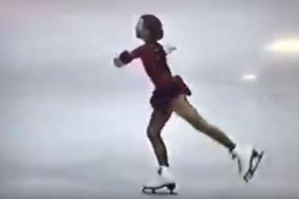 Article image for WATCH: Our Winter Olympics correspondent ice-skating at 12 years old