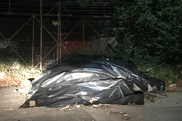 Article image for Deadly asbestos dumped on suburban street