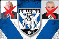 Bulldogs dump club legends for a bankrupt who's banned from the game
