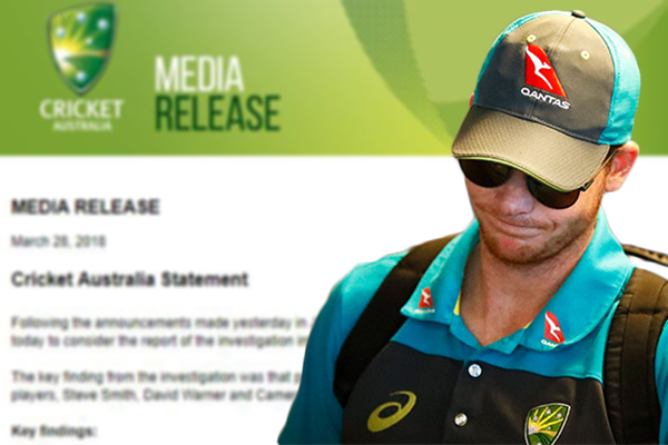 Article image for Smith, Warner and Bancroft cop HUGE bans for ball tampering