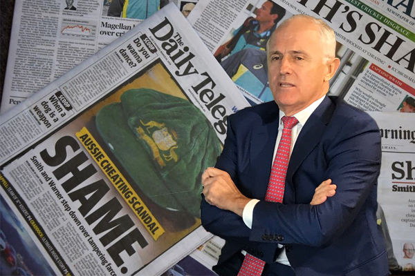 Has the ball tampering scandal saved the Prime Minister?