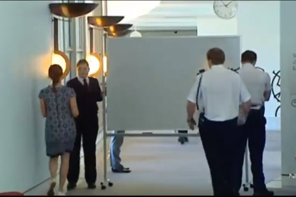 Article image for Michaelia Cash snubs 2GB reporter, hides behind whiteboard