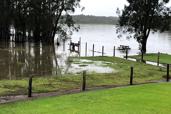 PHOTOS | River close to breaking its banks after torrential rain