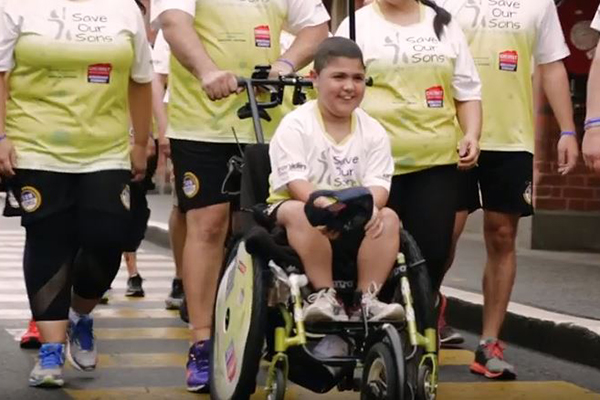 Inspirational walk to fight incurable childhood disease