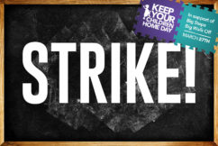 Thousands of childcare workers striking across the country
